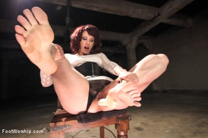 Photo number 3 from POV foot tease masturbation instruction, solo foot masturbation, foot pissing & favorites! shot for Foot Worship on Kink.com. Featuring Maitresse Madeline Marlowe in hardcore BDSM & Fetish porn.