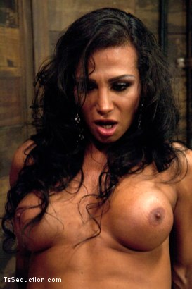 Photo number 6 from Three cum shots - two from Her Cock shot for TS Seduction on Kink.com. Featuring Jaquelin Braxton and Blake in hardcore BDSM & Fetish porn.