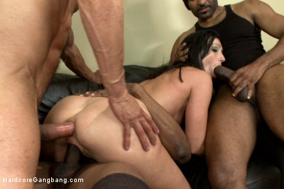 Photo number 3 from Wenona's first INTERRACIAL GANGBANG with CREAMPIE!  shot for Hardcore Gangbang on Kink.com. Featuring Wenona, Karlo Karrera, Prince Yahshua, Jack Napier and Tee Reel in hardcore BDSM & Fetish porn.