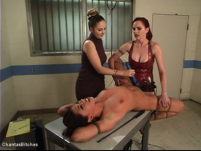 Photo number 11 from Two Dommes For One Bitch shot for Chantas Bitches on Kink.com. Featuring Satine Phoenix and Mz Berlin in hardcore BDSM & Fetish porn.
