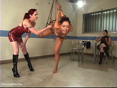 Photo number 3 from Two Dommes For One Bitch shot for Chantas Bitches on Kink.com. Featuring Satine Phoenix and Mz Berlin in hardcore BDSM & Fetish porn.