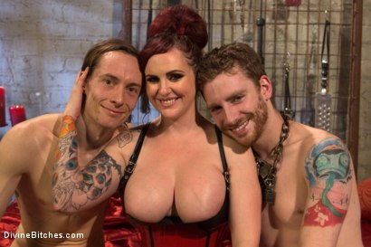 Photo number 6 from Pray to the Church of the Divine Bitches: A coerced bi and cuckolding fantasy! shot for Divine Bitches on Kink.com. Featuring Mz Berlin, Sebastian Keys and Owen Gray in hardcore BDSM & Fetish porn.