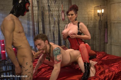 Photo number 9 from Pray to the Church of the Divine Bitches: A coerced bi and cuckolding fantasy! shot for Divine Bitches on Kink.com. Featuring Mz Berlin, Sebastian Keys and Owen Gray in hardcore BDSM & Fetish porn.