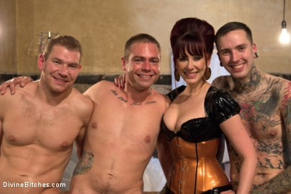 Photo number 3 from EXTREME FEMDOM Prostate Milking Extravaganza! shot for Divine Bitches on Kink.com. Featuring Alex Adams, Maitresse Madeline Marlowe , Ruckus and John Jammen in hardcore BDSM & Fetish porn.