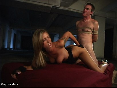 Photo number 10 from She Strikes Lust And Fear shot for Captive Male on Kink.com. Featuring Brooke Banner and Wild Bill in hardcore BDSM & Fetish porn.