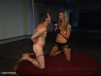 Photo number 3 from She Strikes Lust And Fear shot for Captive Male on Kink.com. Featuring Brooke Banner and Wild Bill in hardcore BDSM & Fetish porn.