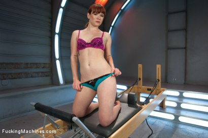 Photo number 2 from Pilates FuckingMachine! shot for Fucking Machines on Kink.com. Featuring Claire Robbins in hardcore BDSM & Fetish porn.