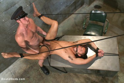 Photo number 13 from New muscled inmate at the mercy of Officer Connor Maguire shot for Bound Gods on Kink.com. Featuring Connor Maguire and Seth Santoro in hardcore BDSM & Fetish porn.