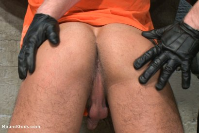 Photo number 2 from New muscled inmate at the mercy of Officer Connor Maguire shot for Bound Gods on Kink.com. Featuring Connor Maguire and Seth Santoro in hardcore BDSM & Fetish porn.