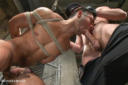 Photo number 8 from New muscled inmate at the mercy of Officer Connor Maguire shot for Bound Gods on Kink.com. Featuring Connor Maguire and Seth Santoro in hardcore BDSM & Fetish porn.