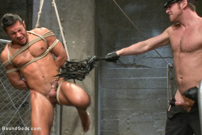 Photo number 7 from New muscled inmate at the mercy of Officer Connor Maguire shot for Bound Gods on Kink.com. Featuring Connor Maguire and Seth Santoro in hardcore BDSM & Fetish porn.