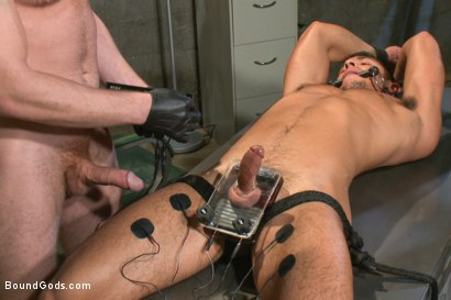 Photo number 11 from New muscled inmate at the mercy of Officer Connor Maguire shot for Bound Gods on Kink.com. Featuring Connor Maguire and Seth Santoro in hardcore BDSM & Fetish porn.
