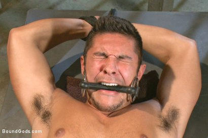 Photo number 10 from New muscled inmate at the mercy of Officer Connor Maguire shot for Bound Gods on Kink.com. Featuring Connor Maguire and Seth Santoro in hardcore BDSM & Fetish porn.