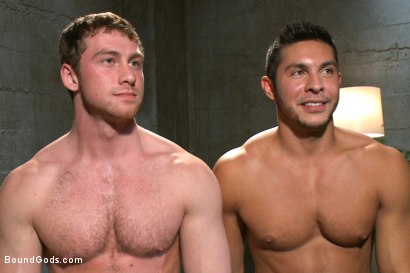 Photo number 15 from New muscled inmate at the mercy of Officer Connor Maguire shot for Bound Gods on Kink.com. Featuring Connor Maguire and Seth Santoro in hardcore BDSM & Fetish porn.