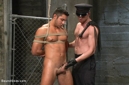 Photo number 5 from New muscled inmate at the mercy of Officer Connor Maguire shot for Bound Gods on Kink.com. Featuring Connor Maguire and Seth Santoro in hardcore BDSM & Fetish porn.