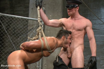Photo number 9 from New muscled inmate at the mercy of Officer Connor Maguire shot for Bound Gods on Kink.com. Featuring Connor Maguire and Seth Santoro in hardcore BDSM & Fetish porn.