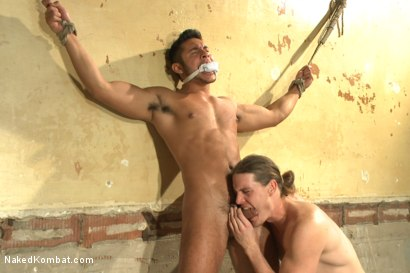 "Photo number 12 from Kip ""The Giant"" Johnson vs Seth ""The Tsunami"" Santoro  shot for Naked Kombat on Kink.com. Featuring Seth Santoro and Kip Johnson in hardcore BDSM & Fetish porn."