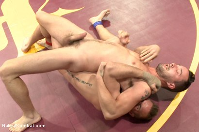 """Photo number 7 from Isaac """"Hardcore"""" Hardy vs Connor """"The Pulverizer"""" Patricks  shot for nakedkombat on Kink.com. Featuring Isaac Hardy and Connor Patricks in hardcore BDSM & Fetish porn."""