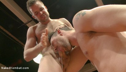 """Photo number 8 from Isaac """"Hardcore"""" Hardy vs Connor """"The Pulverizer"""" Patricks  shot for nakedkombat on Kink.com. Featuring Isaac Hardy and Connor Patricks in hardcore BDSM & Fetish porn."""