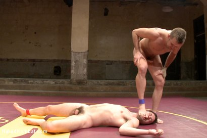 "Photo number 9 from Isaac ""Hardcore"" Hardy vs Connor ""The Pulverizer"" Patricks  shot for Naked Kombat on Kink.com. Featuring Isaac Hardy and Connor Patricks in hardcore BDSM & Fetish porn."