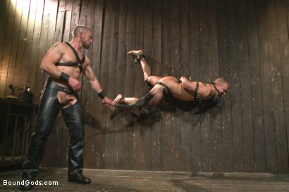 Photo number 10 from Helpless stud's torturous ordeal at the hands of a twisted pervert  shot for Bound Gods on Kink.com. Featuring Adam Herst and Eli Hunter in hardcore BDSM & Fetish porn.