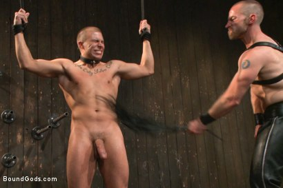 Photo number 11 from Helpless stud's torturous ordeal at the hands of a twisted pervert  shot for Bound Gods on Kink.com. Featuring Adam Herst and Eli Hunter in hardcore BDSM & Fetish porn.