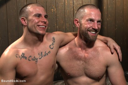 Photo number 15 from Helpless stud's torturous ordeal at the hands of a twisted pervert  shot for Bound Gods on Kink.com. Featuring Adam Herst and Eli Hunter in hardcore BDSM & Fetish porn.