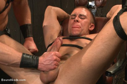 Photo number 14 from Helpless stud's torturous ordeal at the hands of a twisted pervert  shot for Bound Gods on Kink.com. Featuring Adam Herst and Eli Hunter in hardcore BDSM & Fetish porn.