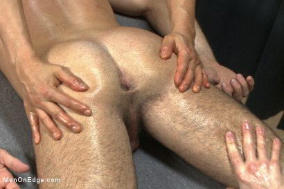 Photo number 2 from Muscled stud strapped down & has his cock milked at the sperm bank shot for Men On Edge on Kink.com. Featuring Billy Santoro in hardcore BDSM & Fetish porn.