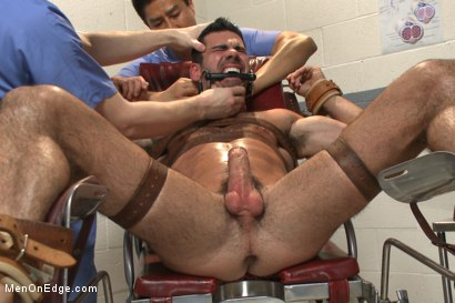 Photo number 10 from Muscled stud strapped down & has his cock milked at the sperm bank shot for Men On Edge on Kink.com. Featuring Billy Santoro in hardcore BDSM & Fetish porn.
