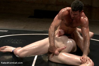 "Photo number 4 from Billy ""Bodyslam"" Santoro vs Jimmy ""The Bulldozer"" Bullet - OIL MATCH! shot for Naked Kombat on Kink.com. Featuring Billy Santoro and Jimmy Bullet in hardcore BDSM & Fetish porn."