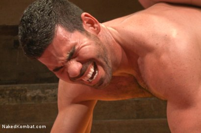 "Photo number 12 from Billy ""Bodyslam"" Santoro vs Jimmy ""The Bulldozer"" Bullet - OIL MATCH! shot for Naked Kombat on Kink.com. Featuring Billy Santoro and Jimmy Bullet in hardcore BDSM & Fetish porn."