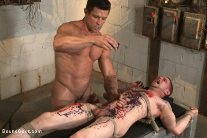 Photo number 14 from The Creepy Handyman vs His New Replacement  shot for Bound Gods on Kink.com. Featuring Trenton Ducati and Jay Rising in hardcore BDSM & Fetish porn.