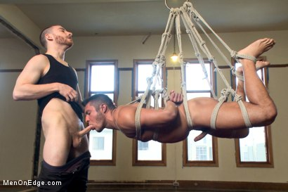 Photo number 6 from Kick ass bondage positiion - Shockspot fucked - Relentlessly edged shot for Men On Edge on Kink.com. Featuring Seth Santoro in hardcore BDSM & Fetish porn.