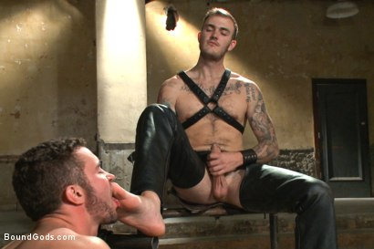 Photo number 4 from New muscle boy for Mr Wilde shot for Bound Gods on Kink.com. Featuring Christian Wilde and Colt Rivers in hardcore BDSM & Fetish porn.