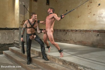 Photo number 6 from New muscle boy for Mr Wilde shot for Bound Gods on Kink.com. Featuring Christian Wilde and Colt Rivers in hardcore BDSM & Fetish porn.