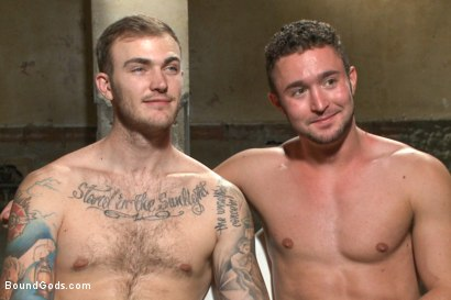 Photo number 15 from New muscle boy for Mr Wilde shot for Bound Gods on Kink.com. Featuring Christian Wilde and Colt Rivers in hardcore BDSM & Fetish porn.