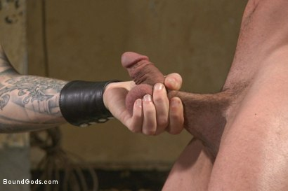 Photo number 7 from New muscle boy for Mr Wilde shot for Bound Gods on Kink.com. Featuring Christian Wilde and Colt Rivers in hardcore BDSM & Fetish porn.