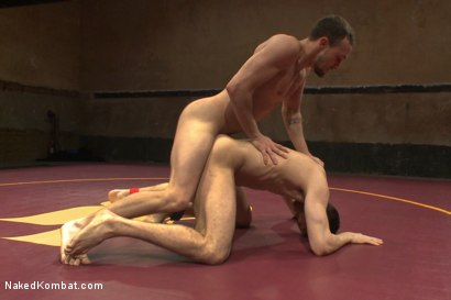 """Photo number 9 from Kirk """"Kick-Ass"""" Cummings vs Silas """"The Spartan"""" O'Hara shot for nakedkombat on Kink.com. Featuring Silas O'Hara and Kirk Cummings in hardcore BDSM & Fetish porn."""