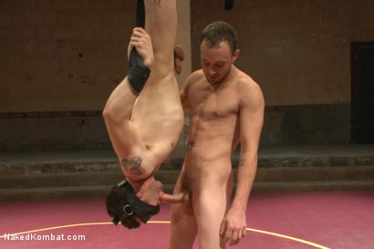 """Photo number 12 from Kirk """"Kick-Ass"""" Cummings vs Silas """"The Spartan"""" O'Hara shot for nakedkombat on Kink.com. Featuring Silas O'Hara and Kirk Cummings in hardcore BDSM & Fetish porn."""