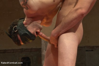 """Photo number 11 from Kirk """"Kick-Ass"""" Cummings vs Silas """"The Spartan"""" O'Hara shot for nakedkombat on Kink.com. Featuring Silas O'Hara and Kirk Cummings in hardcore BDSM & Fetish porn."""