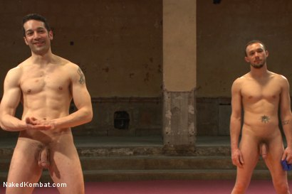 """Photo number 15 from Kirk """"Kick-Ass"""" Cummings vs Silas """"The Spartan"""" O'Hara shot for nakedkombat on Kink.com. Featuring Silas O'Hara and Kirk Cummings in hardcore BDSM & Fetish porn."""