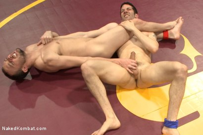 """Photo number 7 from Kirk """"Kick-Ass"""" Cummings vs Silas """"The Spartan"""" O'Hara shot for nakedkombat on Kink.com. Featuring Silas O'Hara and Kirk Cummings in hardcore BDSM & Fetish porn."""