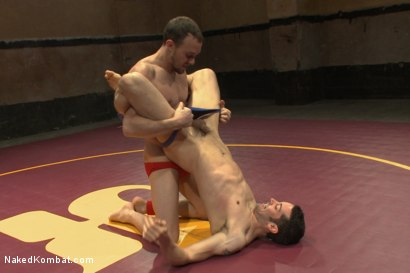 "Photo number 3 from Kirk ""Kick-Ass"" Cummings vs Silas ""The Spartan"" O'Hara shot for Naked Kombat on Kink.com. Featuring Silas O'Hara and Kirk Cummings in hardcore BDSM & Fetish porn."