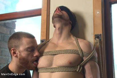 Photo number 2 from Bi stud first time bound, ass violated and edged to the extreme shot for Men On Edge on Kink.com. Featuring Jimmy Bullet in hardcore BDSM & Fetish porn.