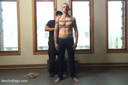 Photo number 1 from Bi stud first time bound, ass violated and edged to the extreme shot for Men On Edge on Kink.com. Featuring Jimmy Bullet in hardcore BDSM & Fetish porn.