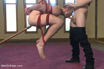 Photo number 6 from Bi stud first time bound, ass violated and edged to the extreme shot for Men On Edge on Kink.com. Featuring Jimmy Bullet in hardcore BDSM & Fetish porn.