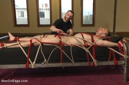 Photo number 13 from Bi stud first time bound, ass violated and edged to the extreme shot for Men On Edge on Kink.com. Featuring Jimmy Bullet in hardcore BDSM & Fetish porn.
