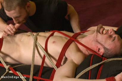 Photo number 14 from Bi stud first time bound, ass violated and edged to the extreme shot for Men On Edge on Kink.com. Featuring Jimmy Bullet in hardcore BDSM & Fetish porn.