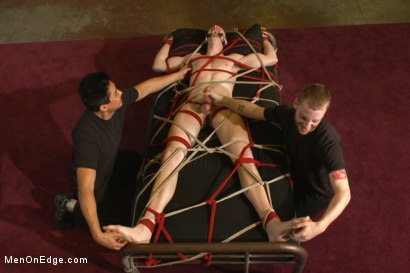 Photo number 9 from Bi stud first time bound, ass violated and edged to the extreme shot for Men On Edge on Kink.com. Featuring Jimmy Bullet in hardcore BDSM & Fetish porn.